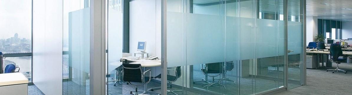glazen systeemwanden